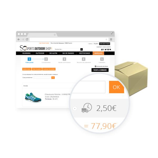 estimation des frais de port apps oxatis. Black Bedroom Furniture Sets. Home Design Ideas