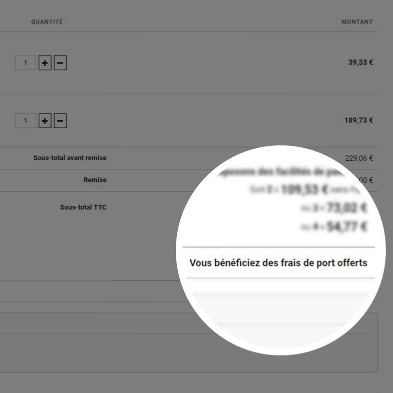Frais de port offerts apps oxatis - Frais de port mondial relay ...